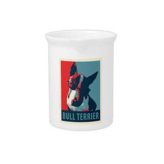 Bull Terrier Political Parody Pitcher