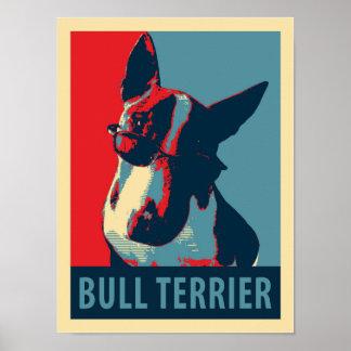 Bull Terrier Political Parody Poster