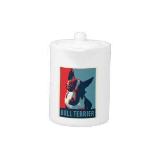 Bull Terrier Political Parody Teapot