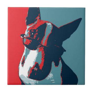 Bull Terrier Political Parody Tile