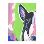 Bull Terrier Pop Art on Stretched Canvas Stretched Canvas Print