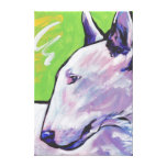 Bull Terrier Pop Art on Stretched Canvas Canvas Print