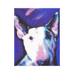 Bull Terrier Pop Art on Stretched Canvas Stretched Canvas Prints