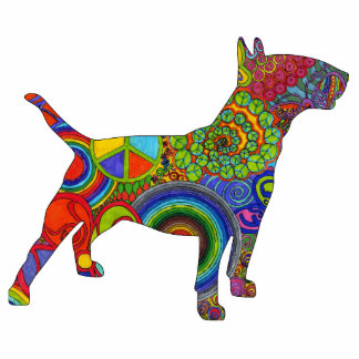 Bull Terrier Pop Art Photo Sculpture