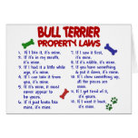 BULL TERRIER Property Laws 2 Greeting Card