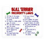 BULL TERRIER Property Laws 2 Post Card