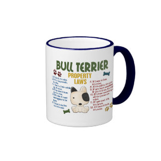 Bull Terrier Property Laws 4 Coffee Mugs