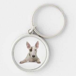 Bull Terrier Puppy Dog Keychain