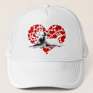 Bull Terrier Puppy Love Trucker Hat