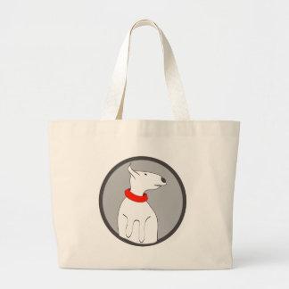 BULL TERRIER RED COLLAR PUPPY BAG