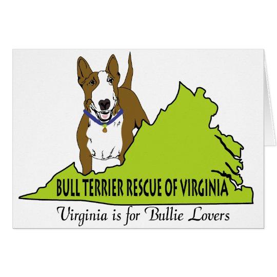 Bull Terrier Rescue of VA LOGO Card