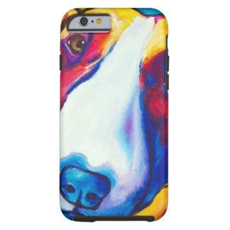 bull terrier rojo y blanco 2 funda de iPhone 6 tough