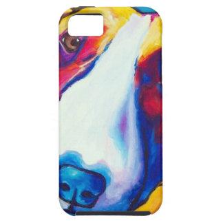 bull terrier rojo y blanco 2 funda para iPhone SE/5/5s