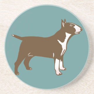 Bull Terrier Sandstone Coaster
