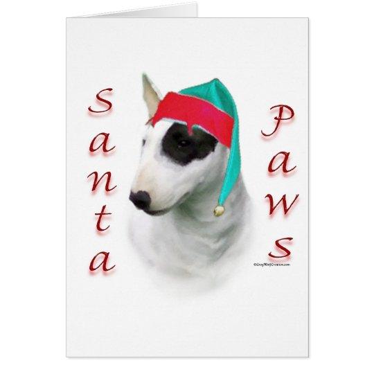 Bull Terrier Santa Paws Card