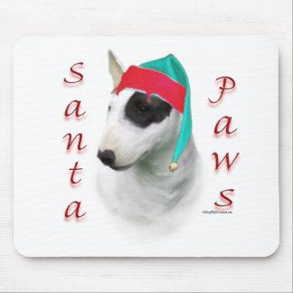Bull Terrier Santa Paws Mouse Pad