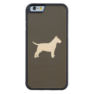 Bull Terrier Silhouette Carved® Maple iPhone 6 Bumper Case
