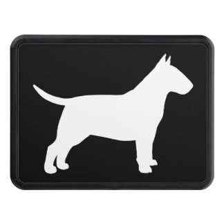 Bull Terrier Silhouette Tow Hitch Covers