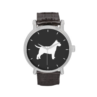 Bull Terrier Silhouette Watches