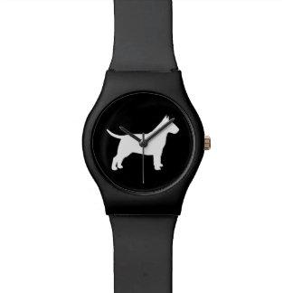 Bull Terrier Silhouette Wrist Watch