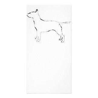 Bull Terrier silo Card