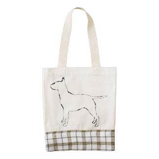 Bull Terrier silo Zazzle HEART Tote Bag