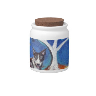 Bull Terrier spiritual Tree Candy Dishes
