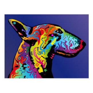 Bull terrier tarjeta postal