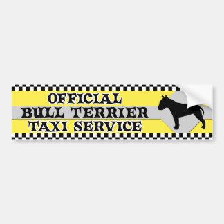 Bull Terrier Taxi Service Bumper Sticker Car Bumper Sticker