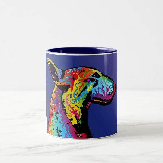 Bull Terrier Two-Tone Coffee Mug