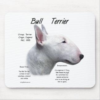 Bull Terrier (wht) History Design Mouse Pads