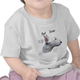Bull Terrier (wht) History Design T-shirts