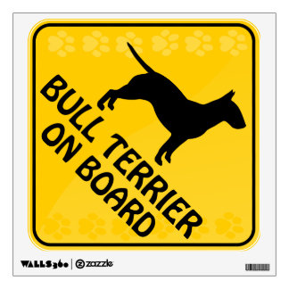 Bull Terrier Xing Wall Graphic