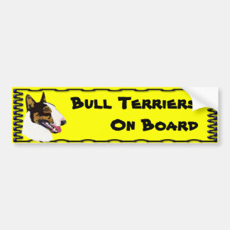 Bull Terriers are Awesome Bumper Sticker