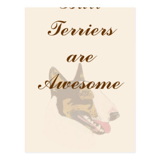 Bull Terriers are Awesome Postcard