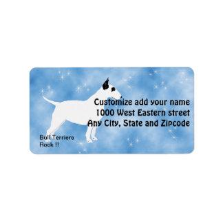 Bull Terriers Rock Address Label