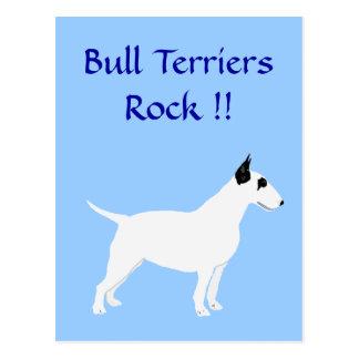 Bull Terriers Rock !! Postcard