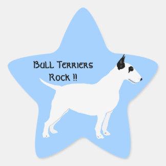 Bull Terriers Rock !! Star Sticker