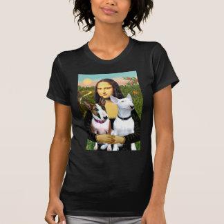 Bull Terriers (Two) - Mona Lisa Tee Shirts