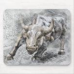 Bull Toro Market Mercado Stock Money Dinero Gold Mouse Pad
