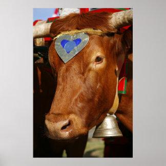 Bull y campana impresiones