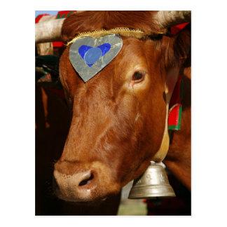 Bull y campana tarjetas postales