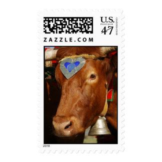Bull y campana timbres postales