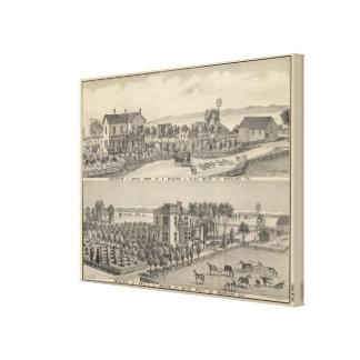 Bullard, Jackson residences Canvas Print