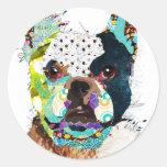 bulldog1.jpg adesivo em formato redondo