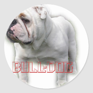 Bulldog  ブルドッグ classic round sticker