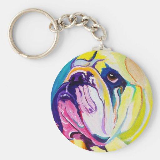 Bulldog #1 keychain