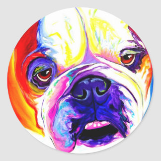 Bulldog #2 classic round sticker