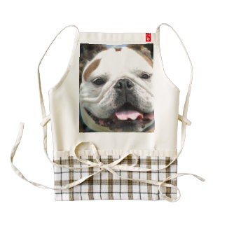 bulldog-2 delantal zazzle HEART