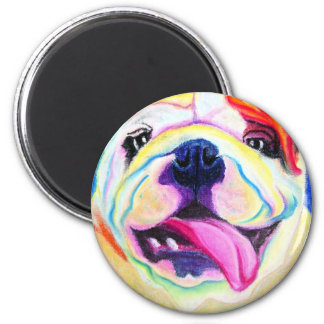 Bulldog #4 2 inch round magnet